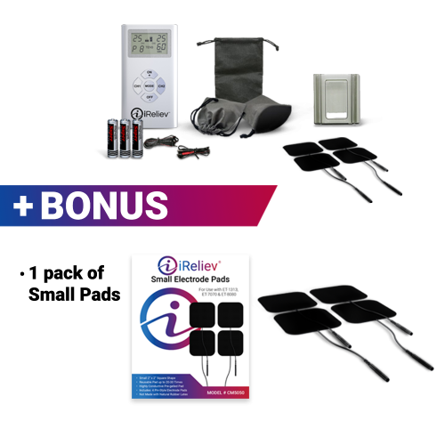 iReliev TENS Unit with bonus electrode pads