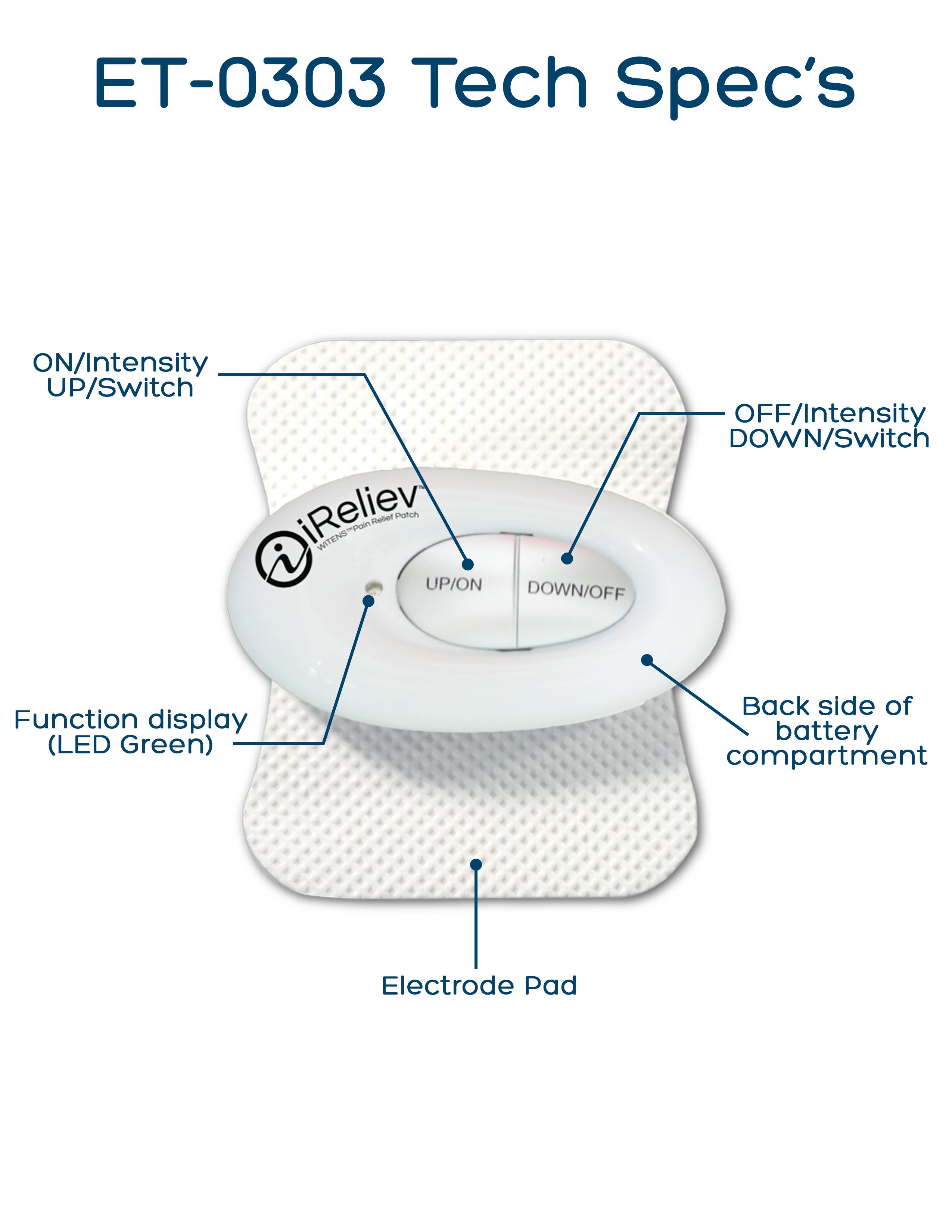 ET-0303 Mini Wireless TENS Unit Technical Specifications