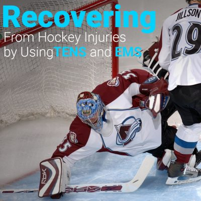 Recovering from hockey injuries by using TENS and EMS