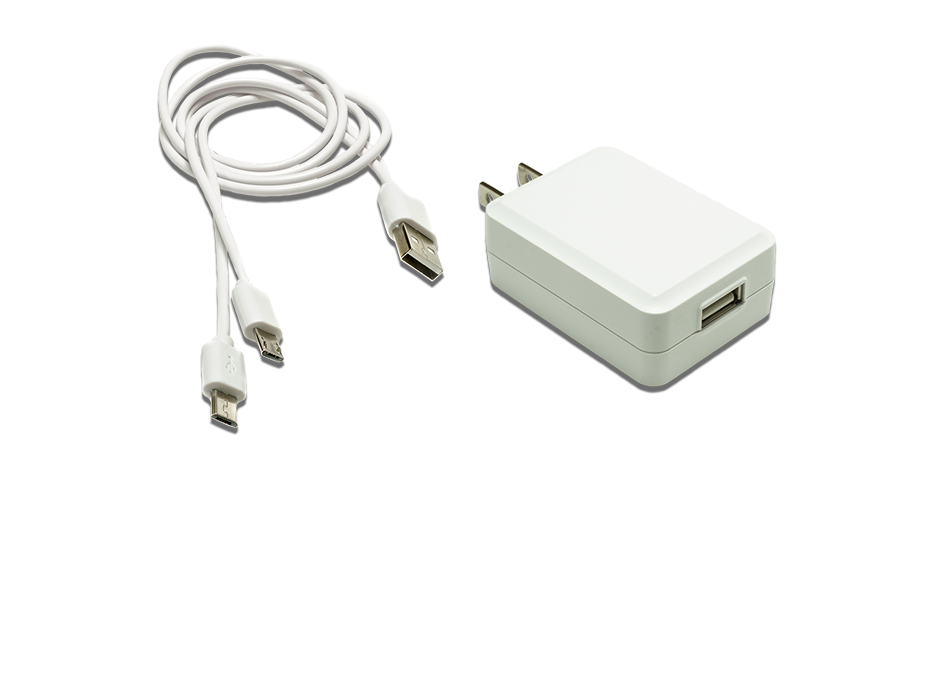 Dual USB Charging Cable & Adapter
