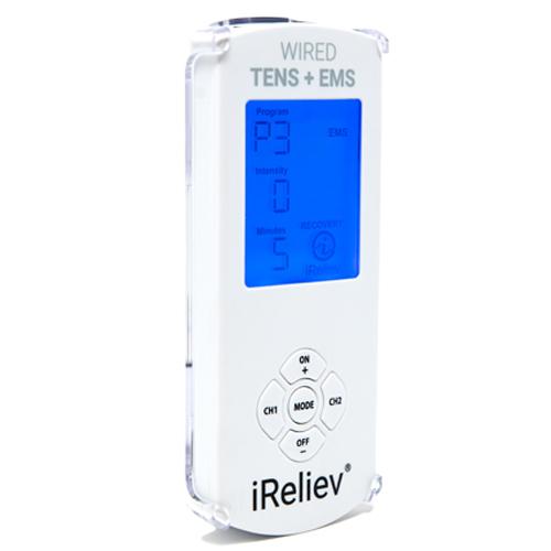 iReliev TENS, iReliev TENS unit, TENS and EMS, Wired, Wired TENS unit, TENS, TENS Unit, TENS and EMS unit