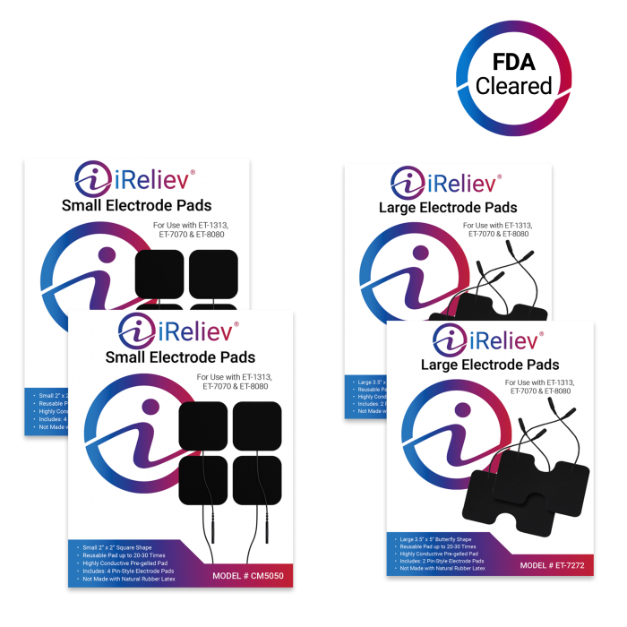 Small and large electrode pad refill kit